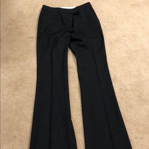 Straight wide leg crepe pants